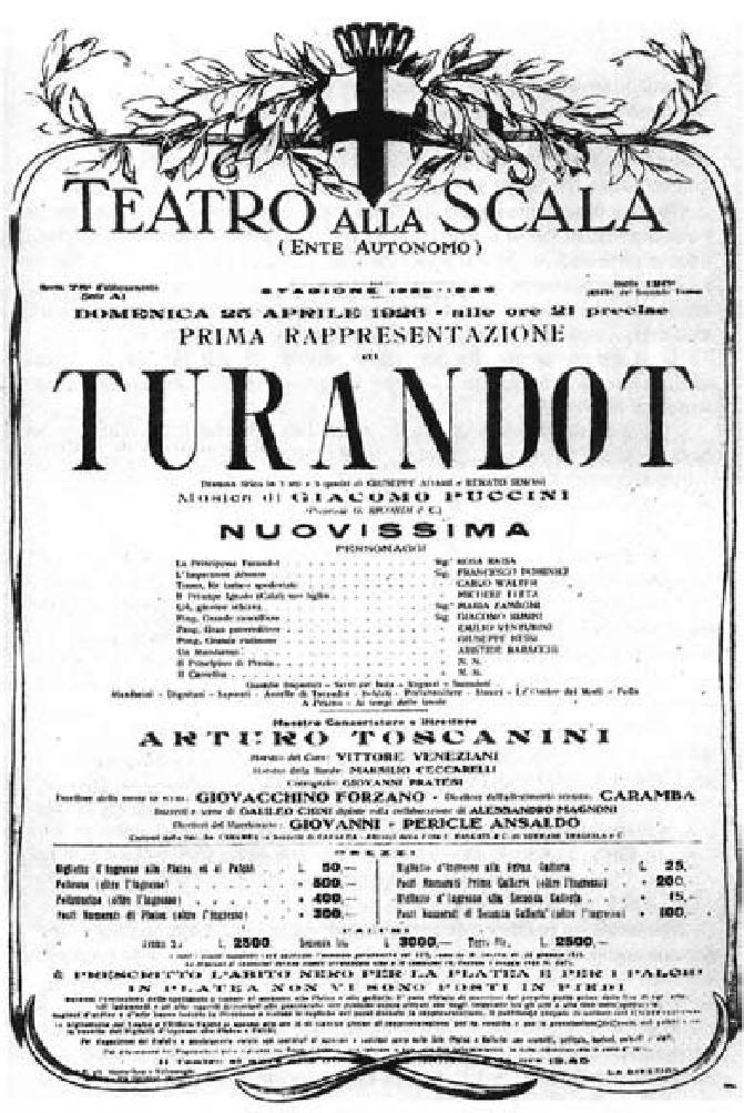 cartel estreno Turandot