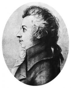 Mozart dibujo de Doris Stock en 1789