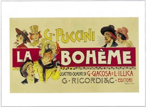 Cartel de La boheme de Puccini