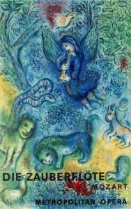 Cartel de La Flauta  Mágica de Marc Chagall para el Metropolitan