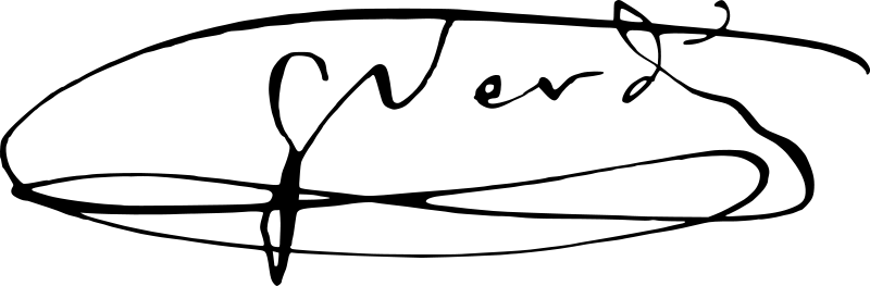 Firma de Verdi