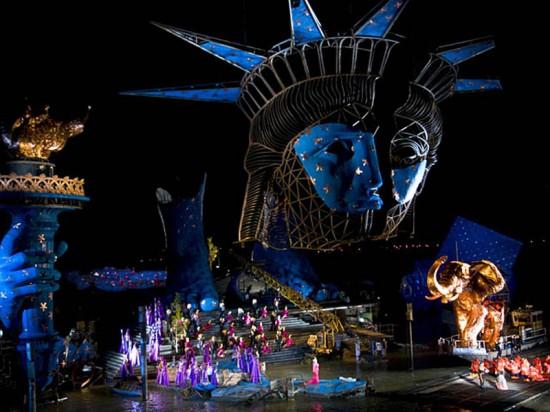 Escena de Aida en el Festival de Bregenz
