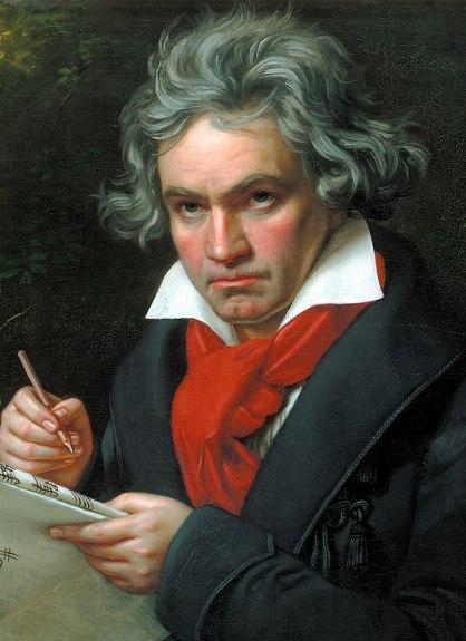 Novena de Beethoven por Karajan 1977 Retrato realizado por Joseph Karl Stieler en 1820