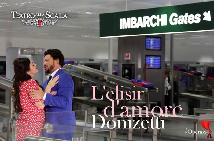 aeropuerto malpensa elisir d amore Scala Gaetano donizetti