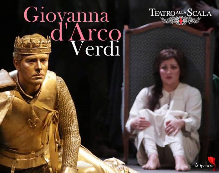 Francesco Meli y Anna Netrebko como Giovanna d'arco teatro alla Scala Milan Giuseppe Verdi