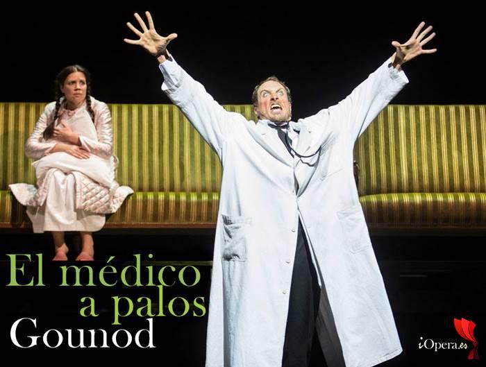El médico a palos de Gounod desde Ginebra, vídeo de la ópera dirigida por Laurent Pelly con Boris Grappe (Sganarelle)