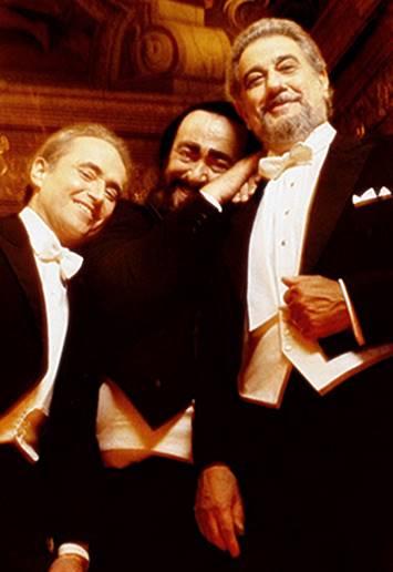 Los tres tenores, Domingo , Pavarotti y Carreras, vídeos inéditos conciertos
