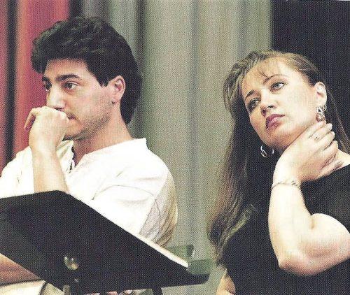 Sansón y Dalila desde San Petersburgo Olga Borodina y José Cura en 1998 en la grabación de la ópera en Londres